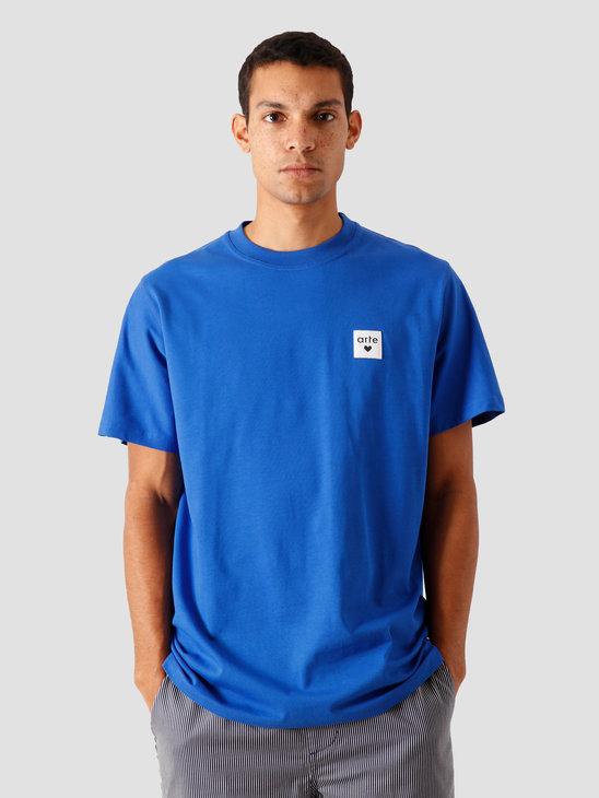 Arte Antwerp Toby Heart Label T-Shirt Royal Blue AW20-003T