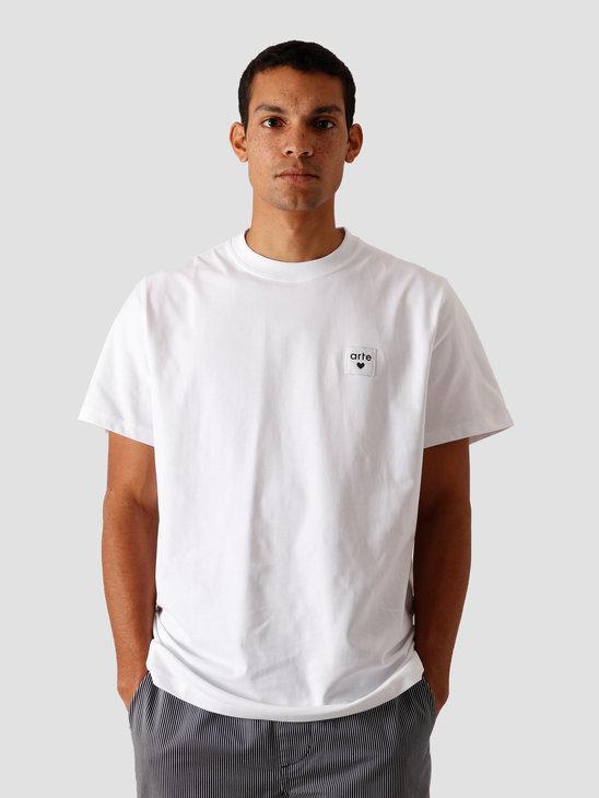 Arte Antwerp Toby Heart Label T-Shirt White AW20-003T