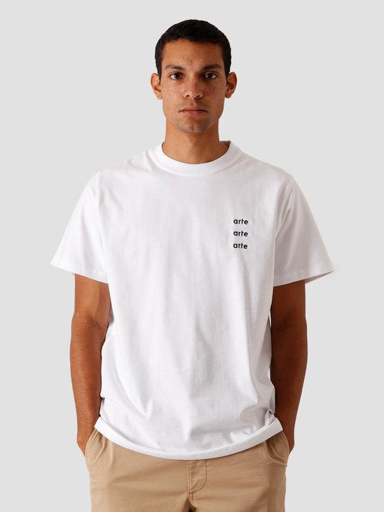 Arte Antwerp Toby Multi Logo T-Shirt White AW20-005T