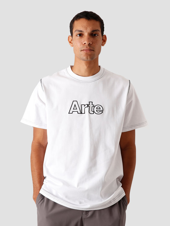 Arte Antwerp Toby Outline T-Shirt White AW20-001T