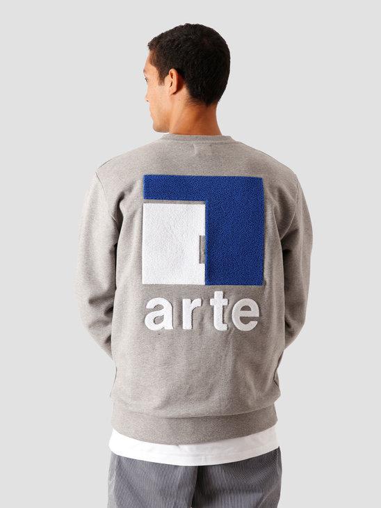 Arte Antwerp Chuck A Back Sweater Grey AW20-045C