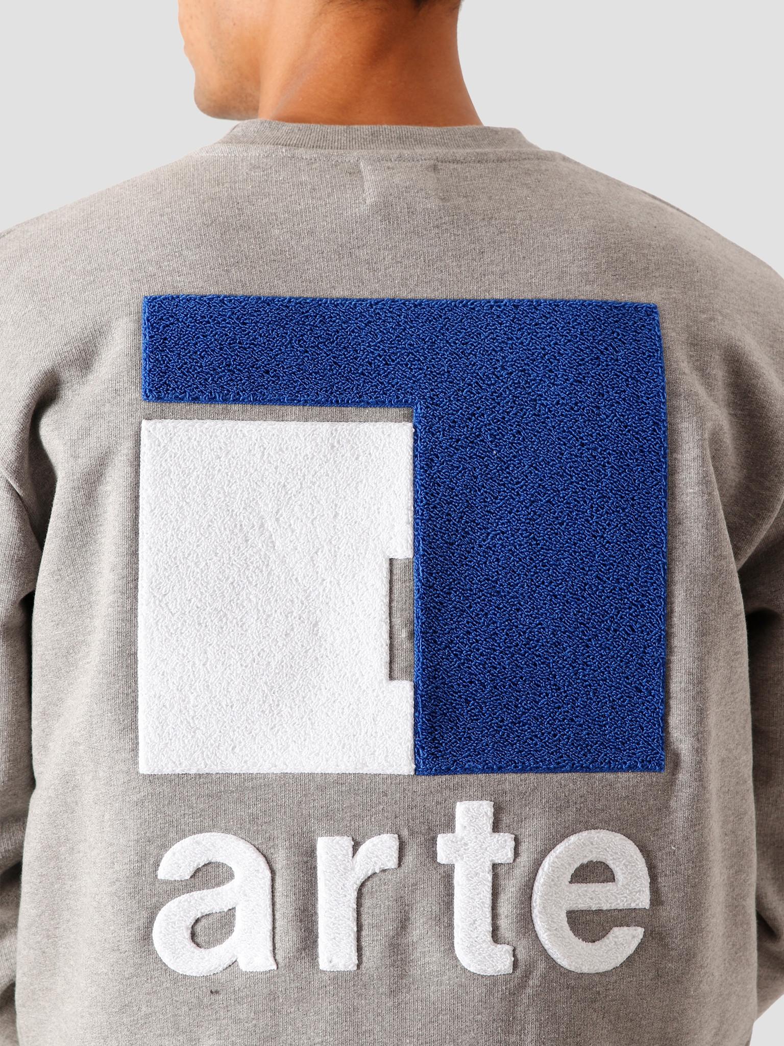 Arte Antwerp Arte Antwerp Chuck A Back Sweater Grey AW20-045C