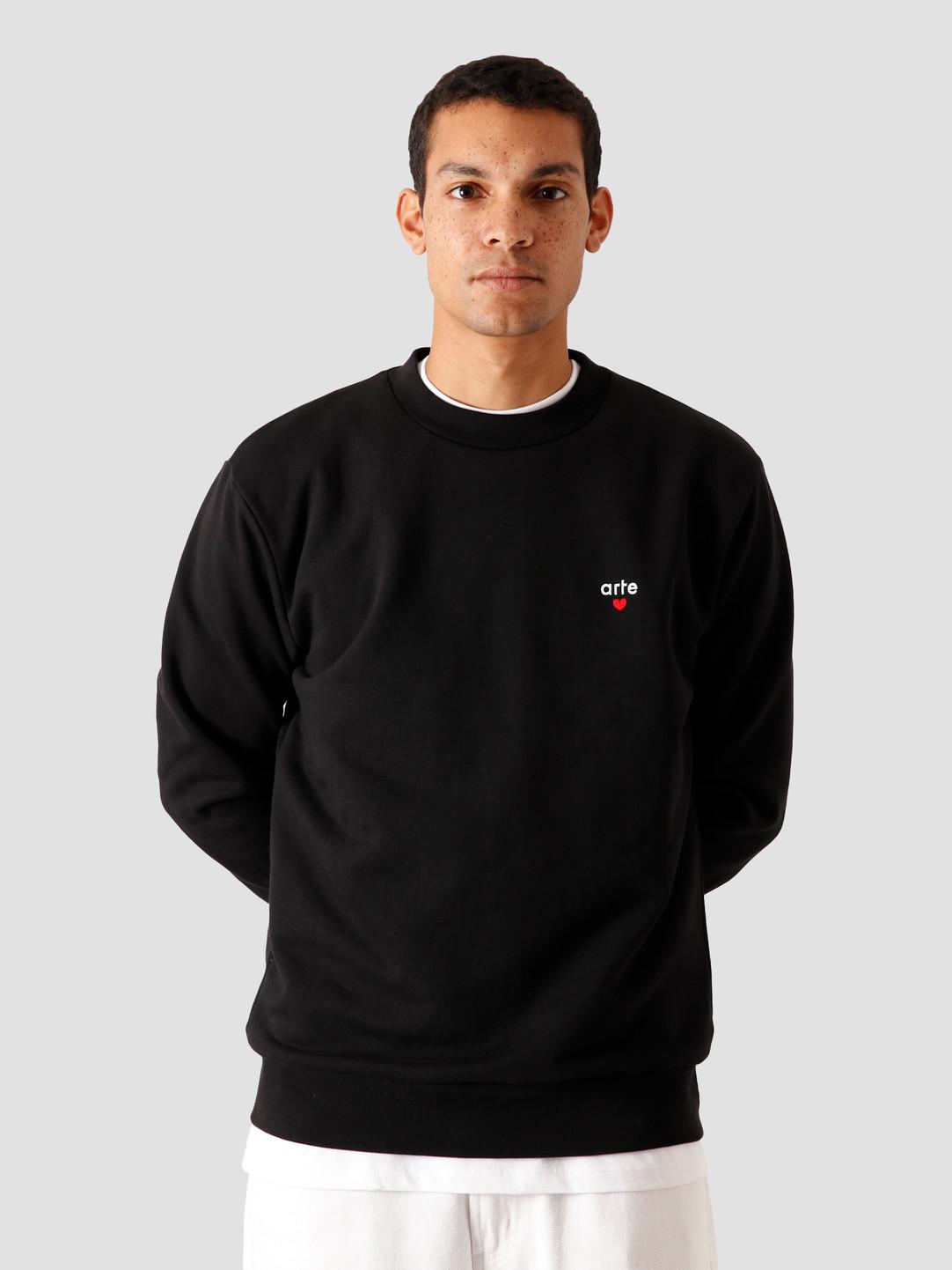Arte Antwerp,Chuck heart logo sweater zwart,aw20 046c black