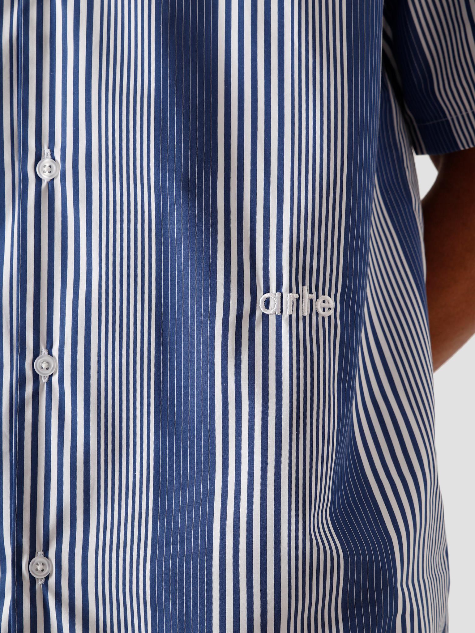 Arte Antwerp Arte Antwerp Steven Shirt Navy/White AW20-054SH