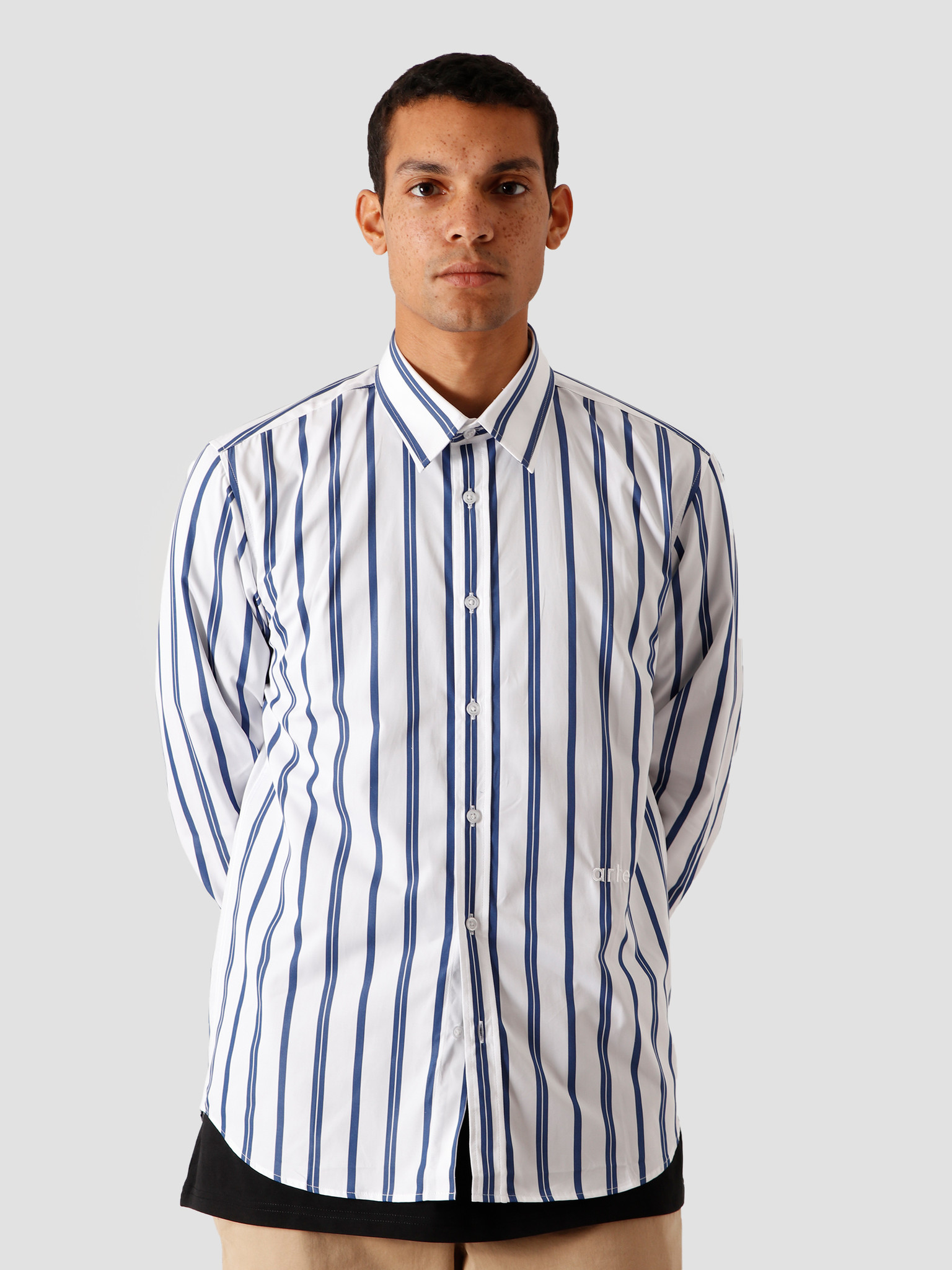 Arte Antwerp Arte Antwerp Stockton Stripes Shirt Navy/White AW20-053SH