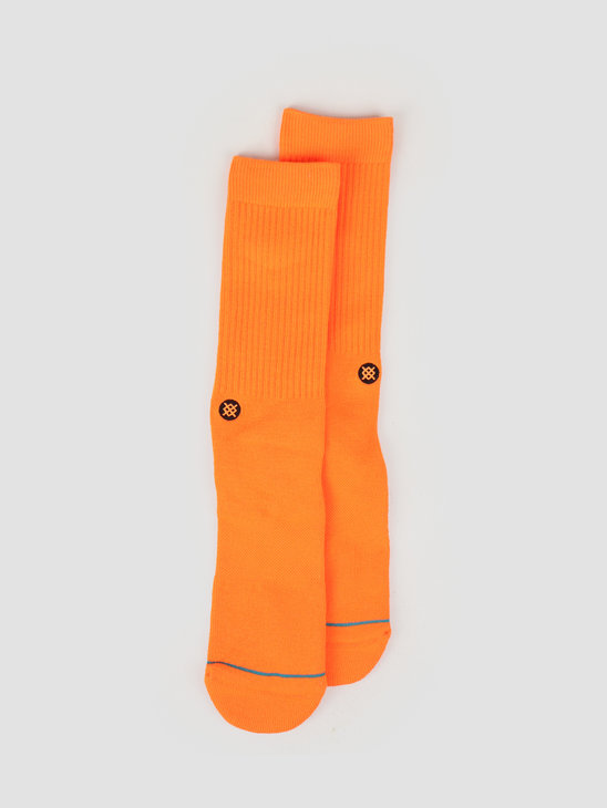 Stance Icon Classic Crew Sock Florescent Green M311D14ICO