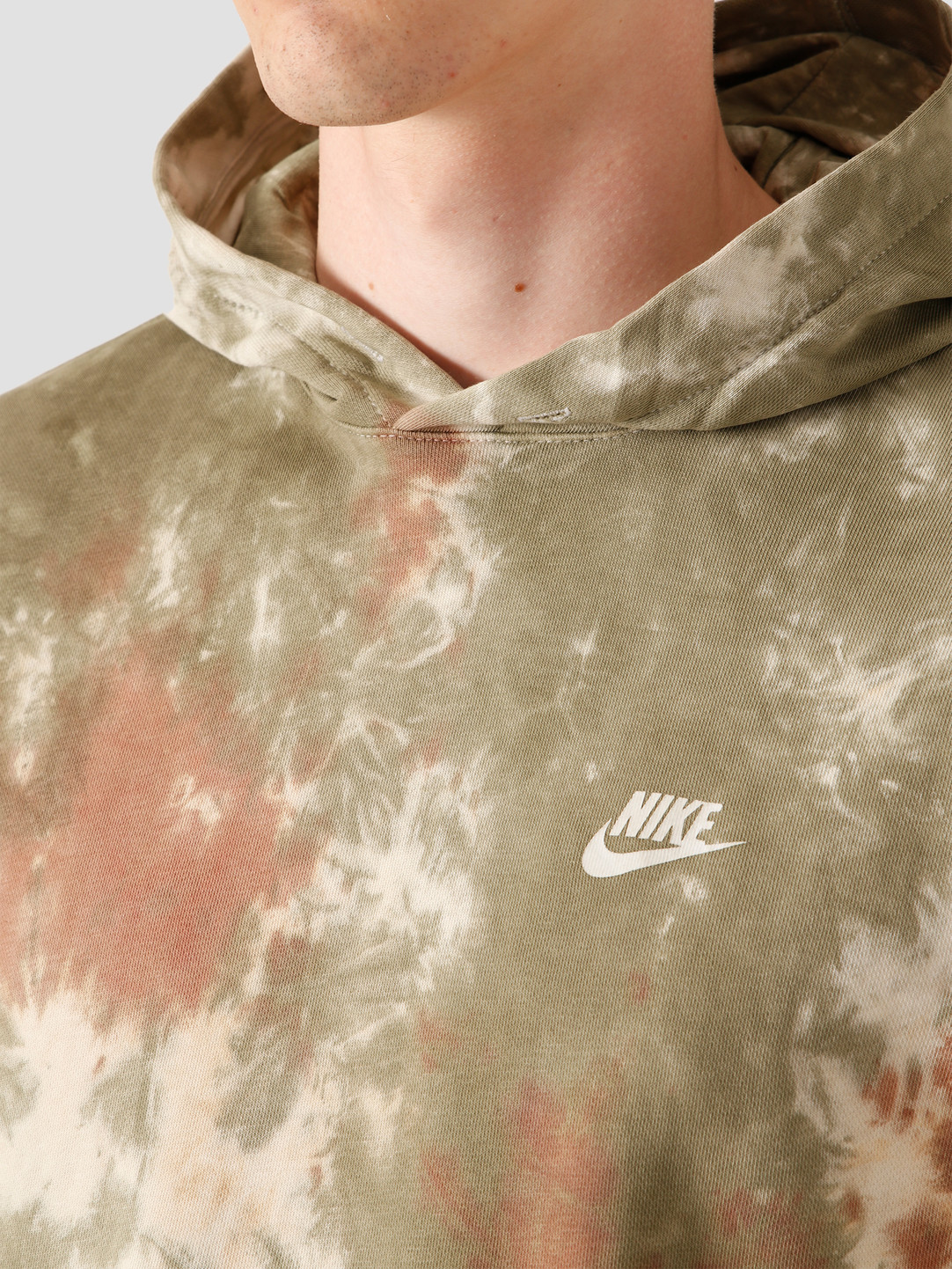 Nike Nike Nsw Hoodie FT Dye Medium Olive White CU4345-222