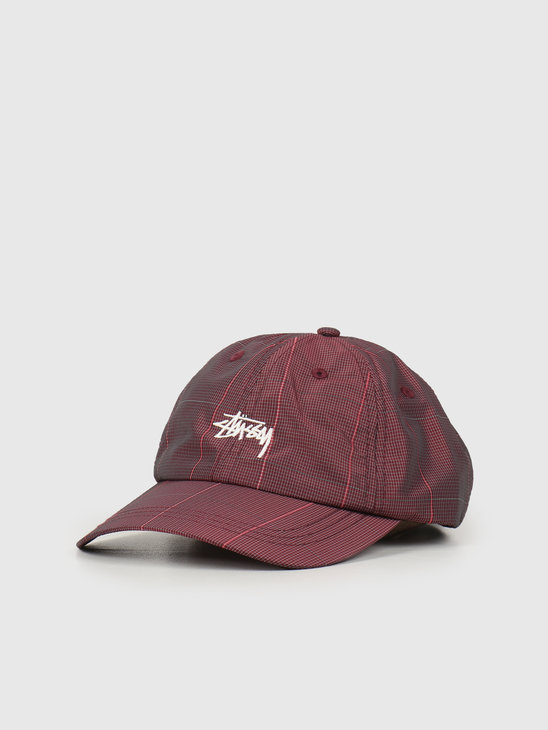 Stussy Reflective Window Pane Low Pro Cap Red 131944
