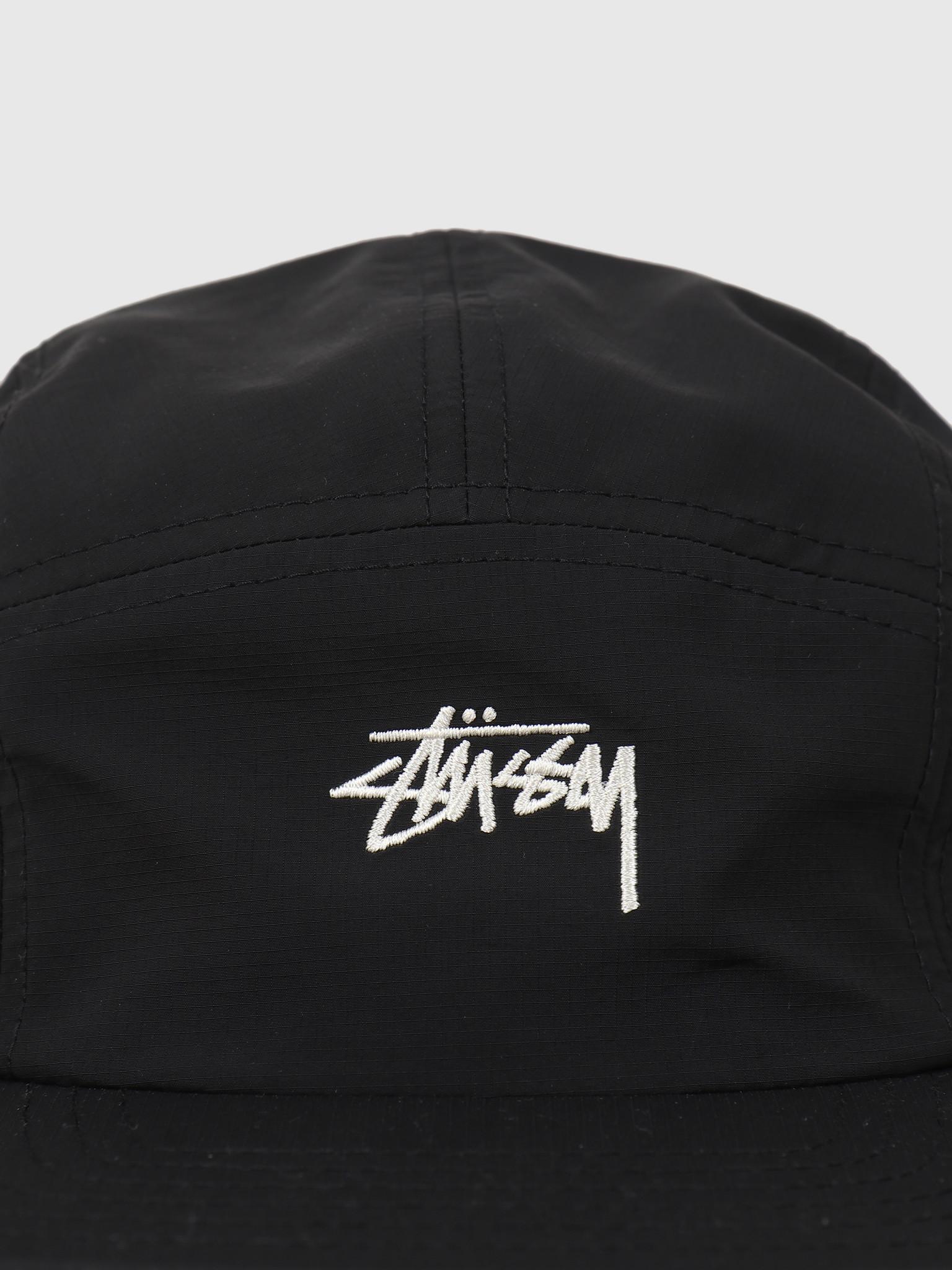 Stussy Stussy Stock Nylon Ripstop Camp Cap Black 132982