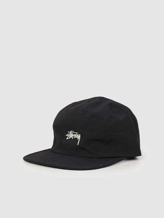 Stussy Stock Nylon Ripstop Camp Cap Black 132982