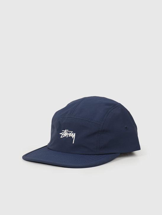 Stussy Stock Nylon Ripstop Camp Cap Blue 132982