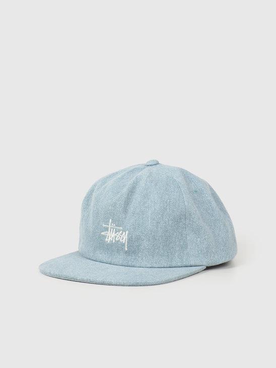 Stussy Stock Pigment Strapback Cap Blue 131946