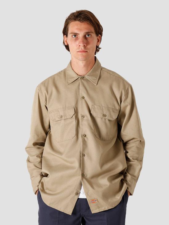 Dickies Longsleeve Work Shirt Khaki DK000574KHK1