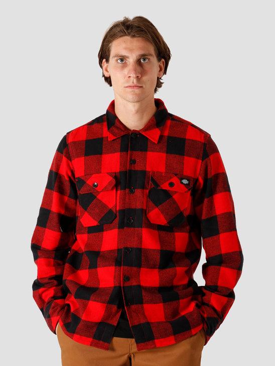 Dickies Sacramento Relaxed Longsleeve Shirt Red DK0A4X8NRDX1