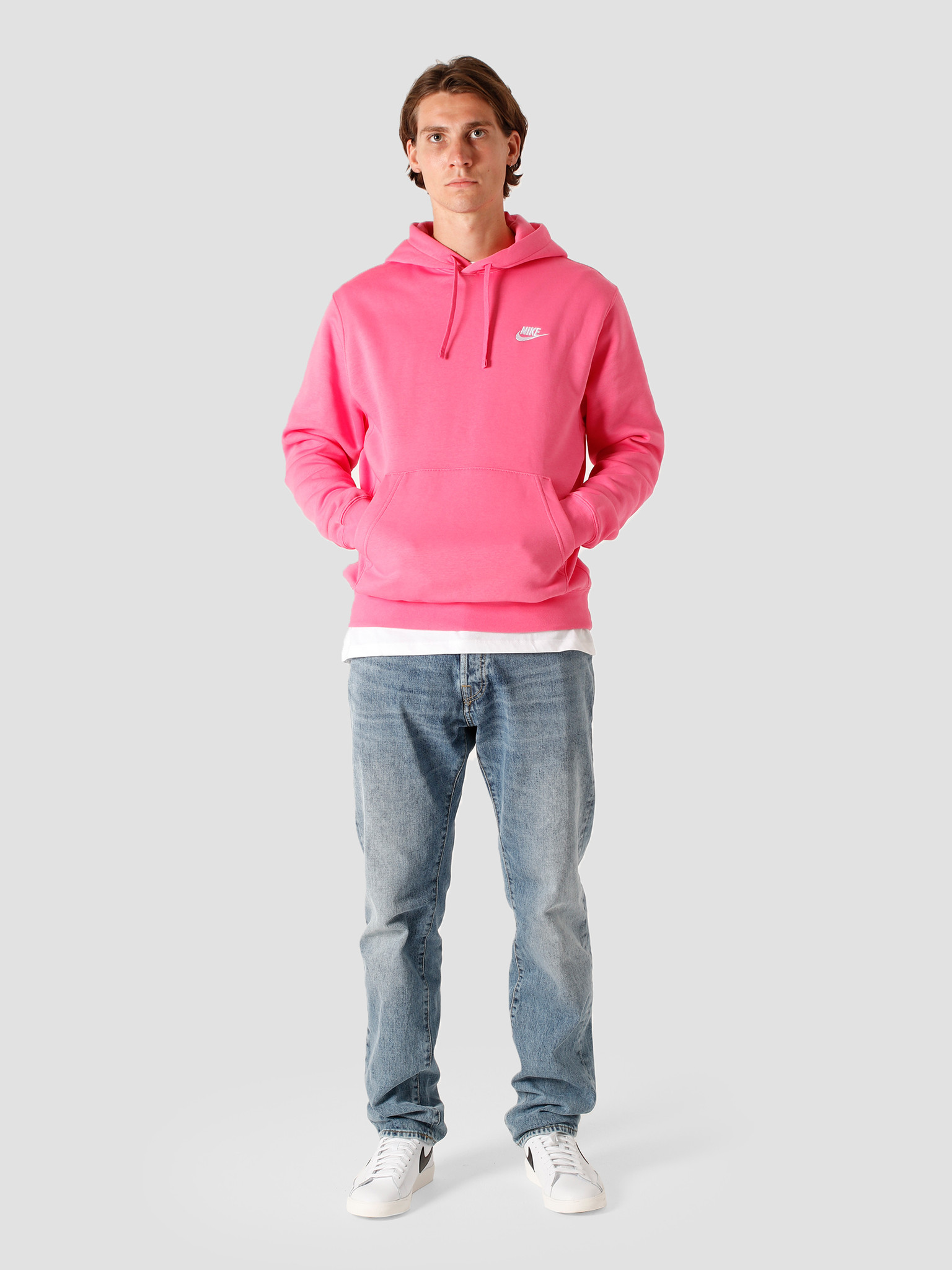 Nike Nike Nsw Club Hoodie Bb Pinksicle Pinksicle White BV2654-684