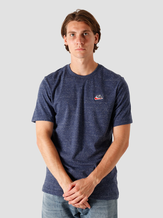 Nike Nsw Heritage LBR T-Shirt Midnight Navy CK2383-410