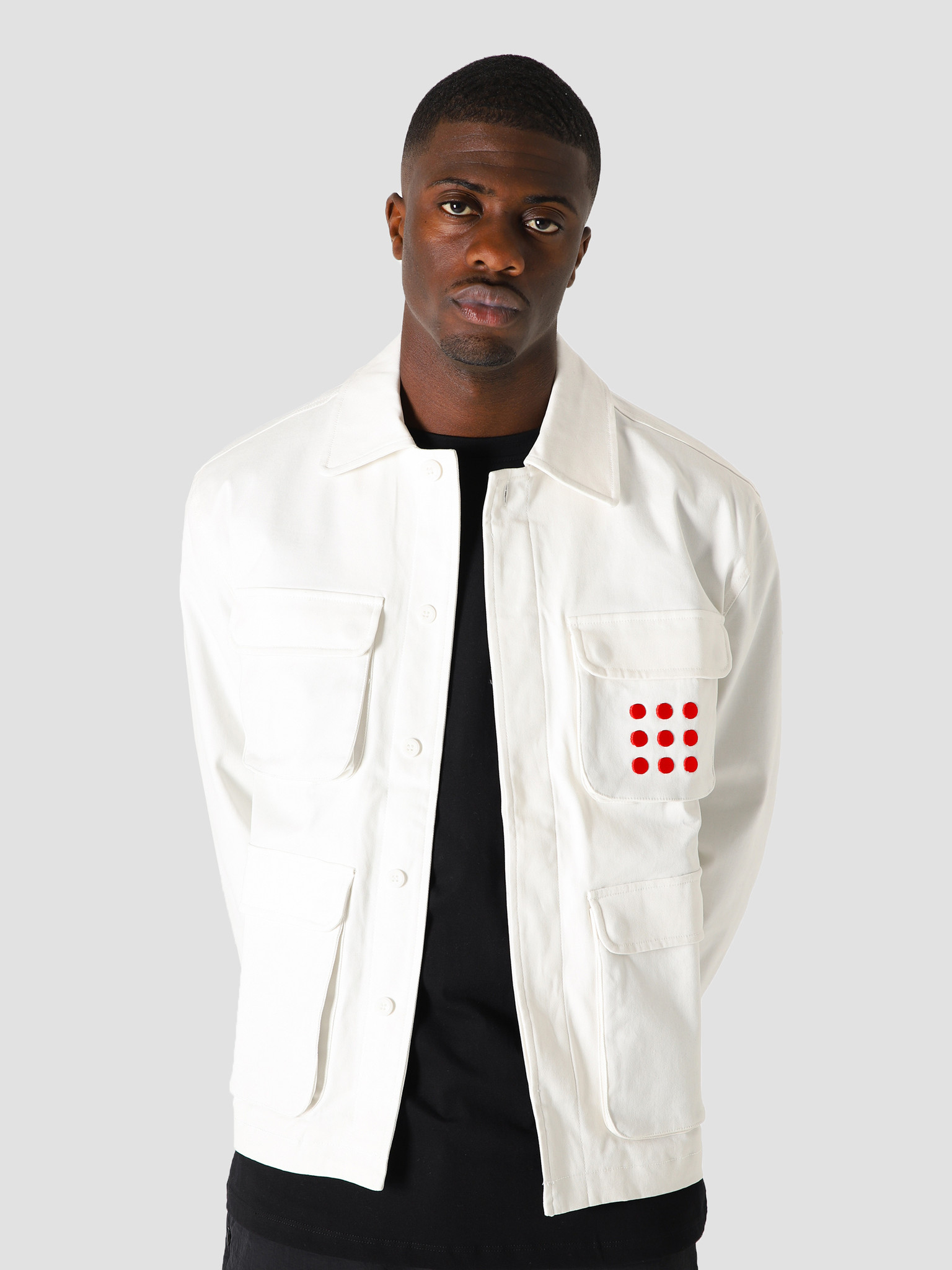 The New Originals The New Originals Multipocket Jacket White Red