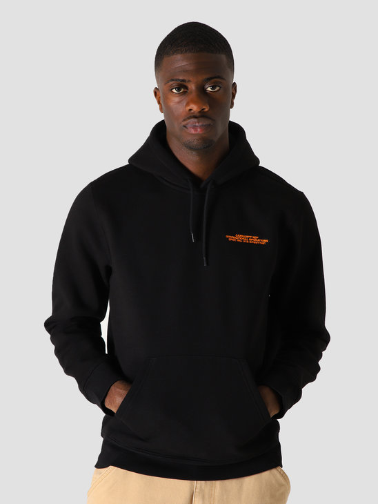 Carhartt WIP Hd International Operations Sw Black Orange I028466-8990