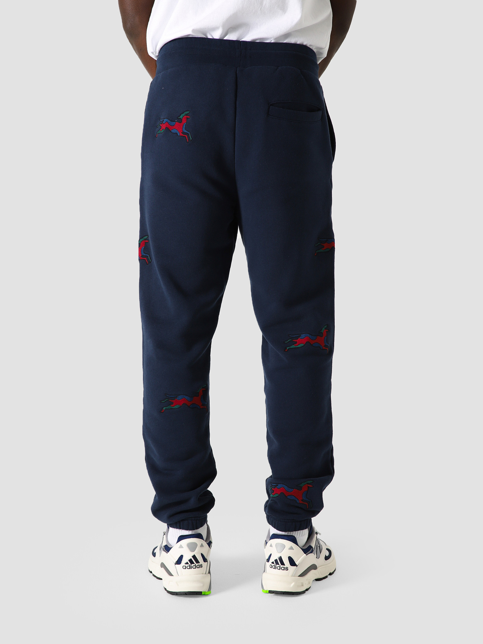 by Parra by Parra Jumping Fox Sweat Pants Navy Blue 44105
