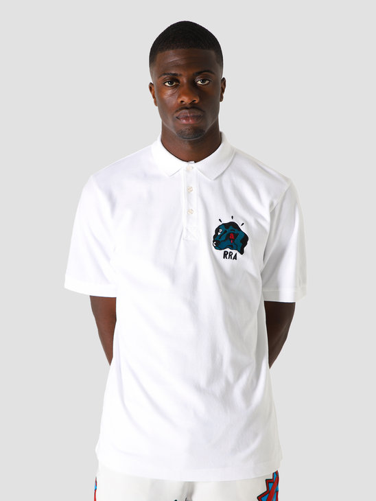 by Parra Dogfaced Polo Shirt White 44050