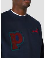by Parra by Parra Jumping Fox Crew Neck Sweatshirt Navy Blue 44090