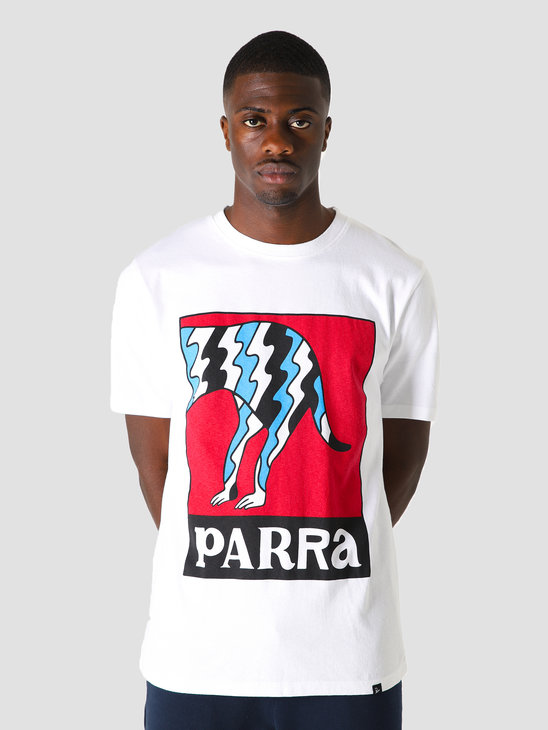 by Parra Dog Tail Static T-Shirt White 44010
