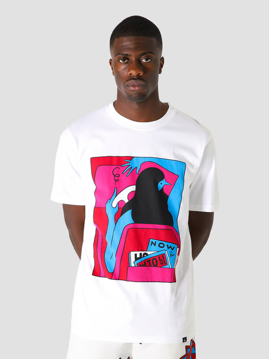 by Parra How To Live Now T-Shirt White 44000