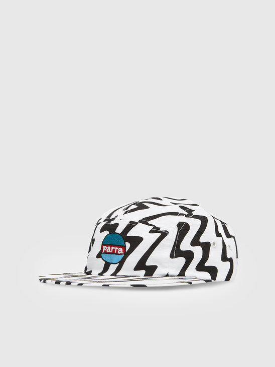 by Parra Static 5 Panel Hat White 44130