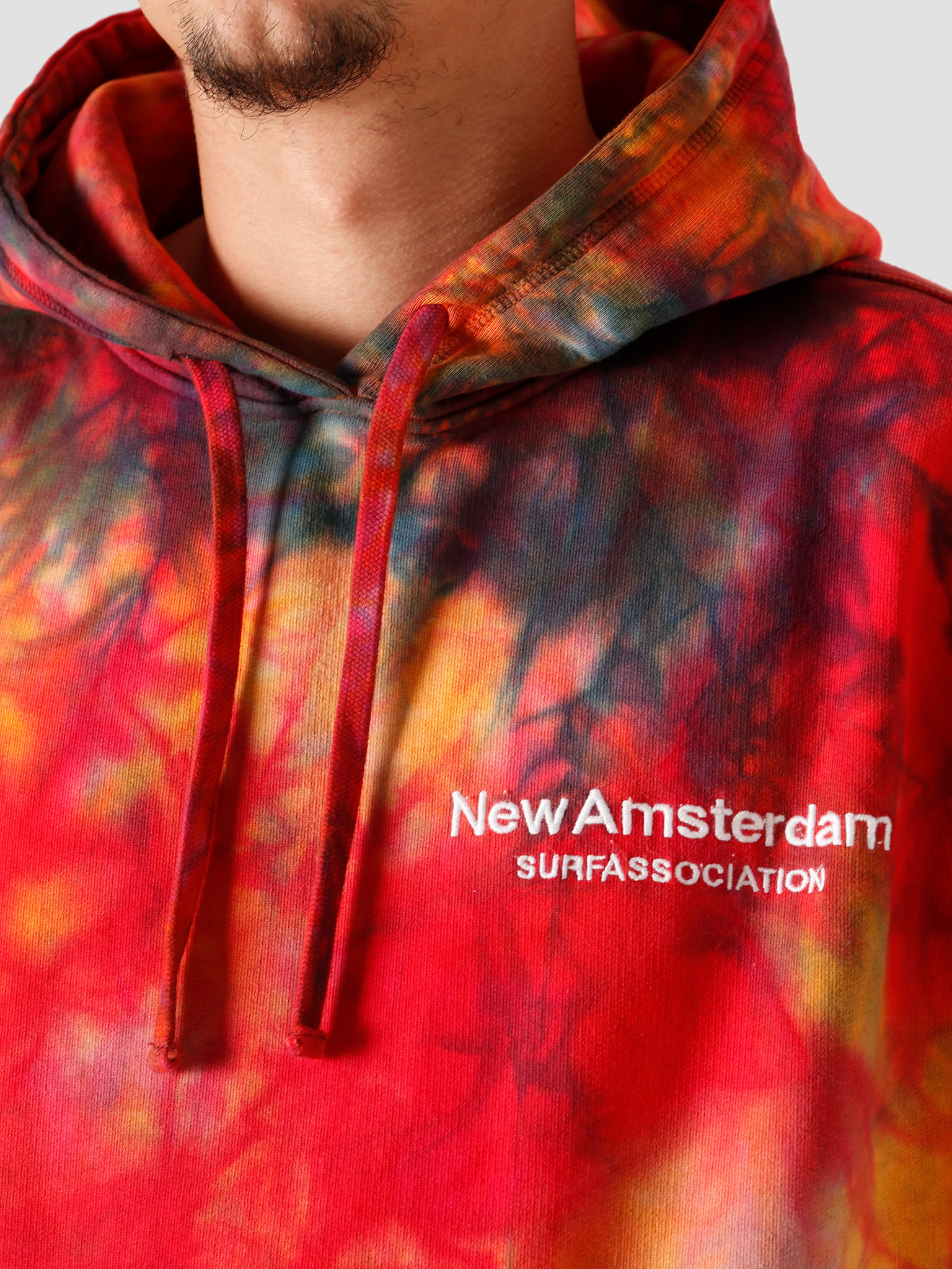 New Amsterdam Surf association New Amsterdam Surf association Logo Hoodie Tie Die Oil 2020066