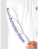 New Amsterdam Surf association New Amsterdam Surf association Logo Longsleeve White Royal 2020034