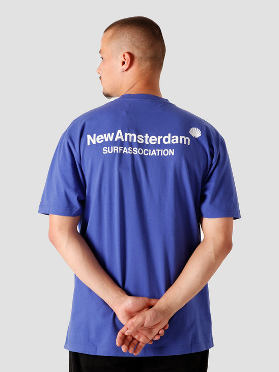 New Amsterdam Surf association Logo T-Shirt Royal 2020032