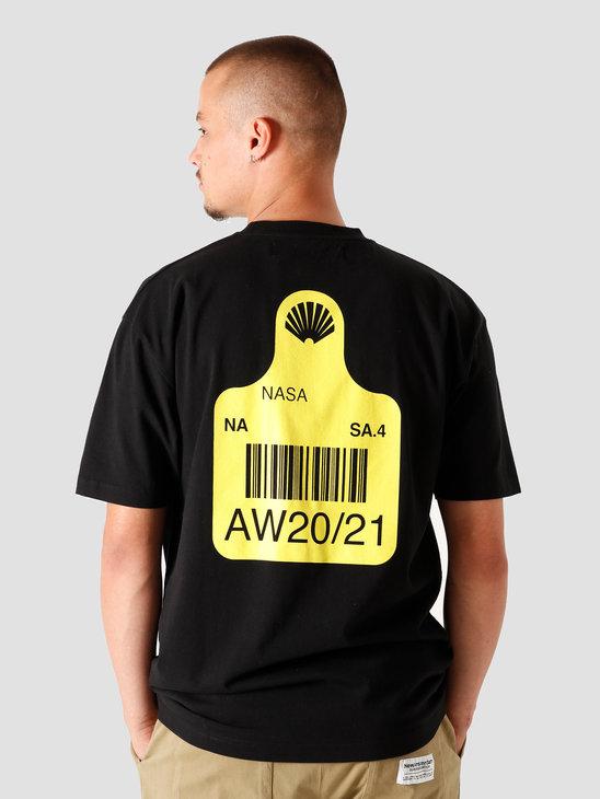 New Amsterdam Surf association Tag T-Shirt Black 2020031