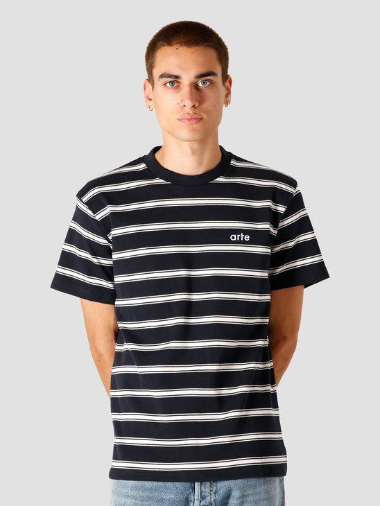 Arte Antwerp Tino Stripes T-Shirt Navy/White AW20-015T