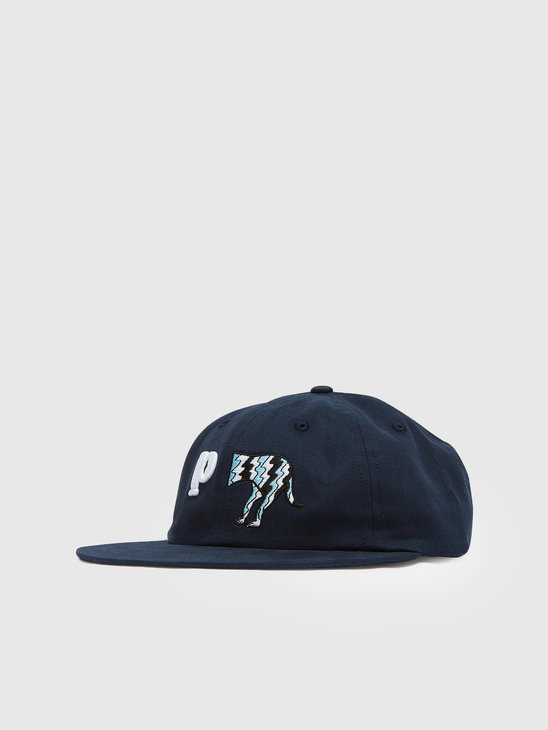 by Parra Dog Tail P 6 Panel Hat Dark Navy 44135