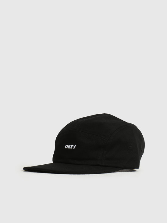Obey Future 5 Panel Camp Hat Black 100490073BLK