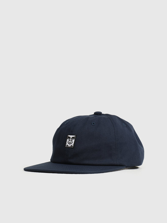 Obey Icon Face 6 Panel Strapback Navy 100580251NVY