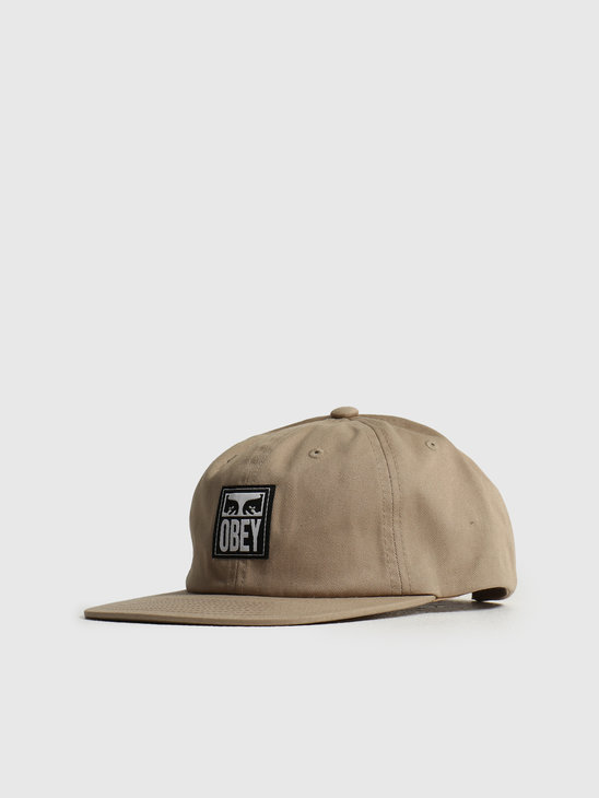 Obey Icon Label 6 Panel Strapback Khaki 100580252KHA