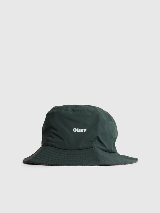 Obey Royal Reversible Bucket Hat Green Multi 100520042GMU