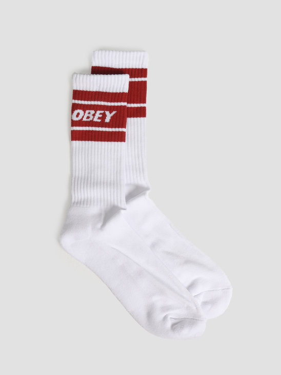 Obey Cooper Ii Socks White Chili 100260093CHP