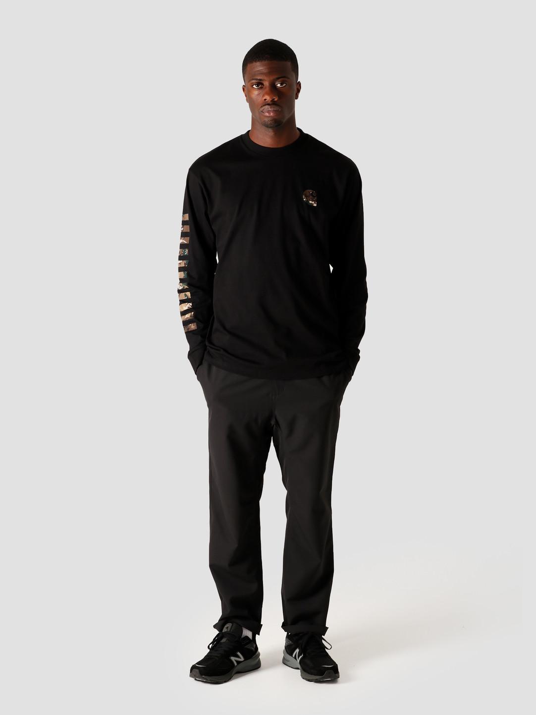 Carhartt WIP Carhartt WIP Longsleeve Camo Mil T-Shirt Black I028464-8900