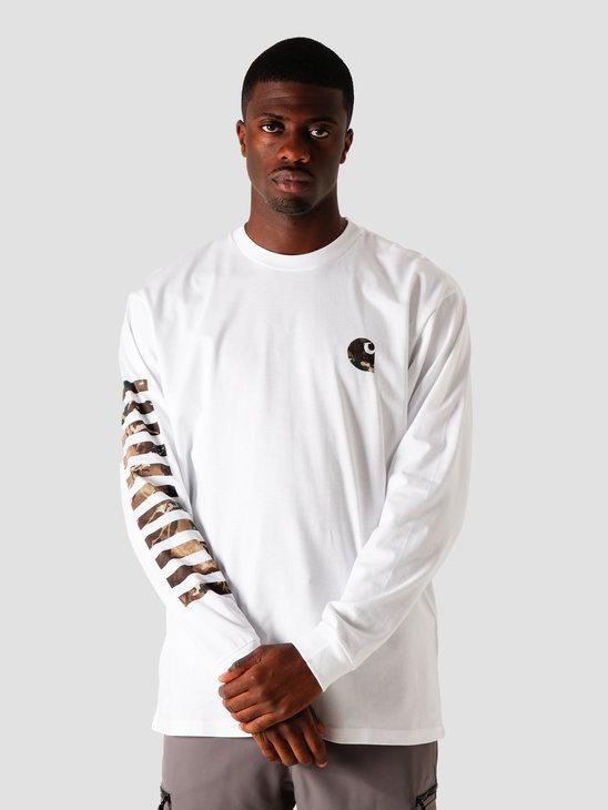Carhartt WIP Longsleeve Camo Mil T-Shirt White I028464-200