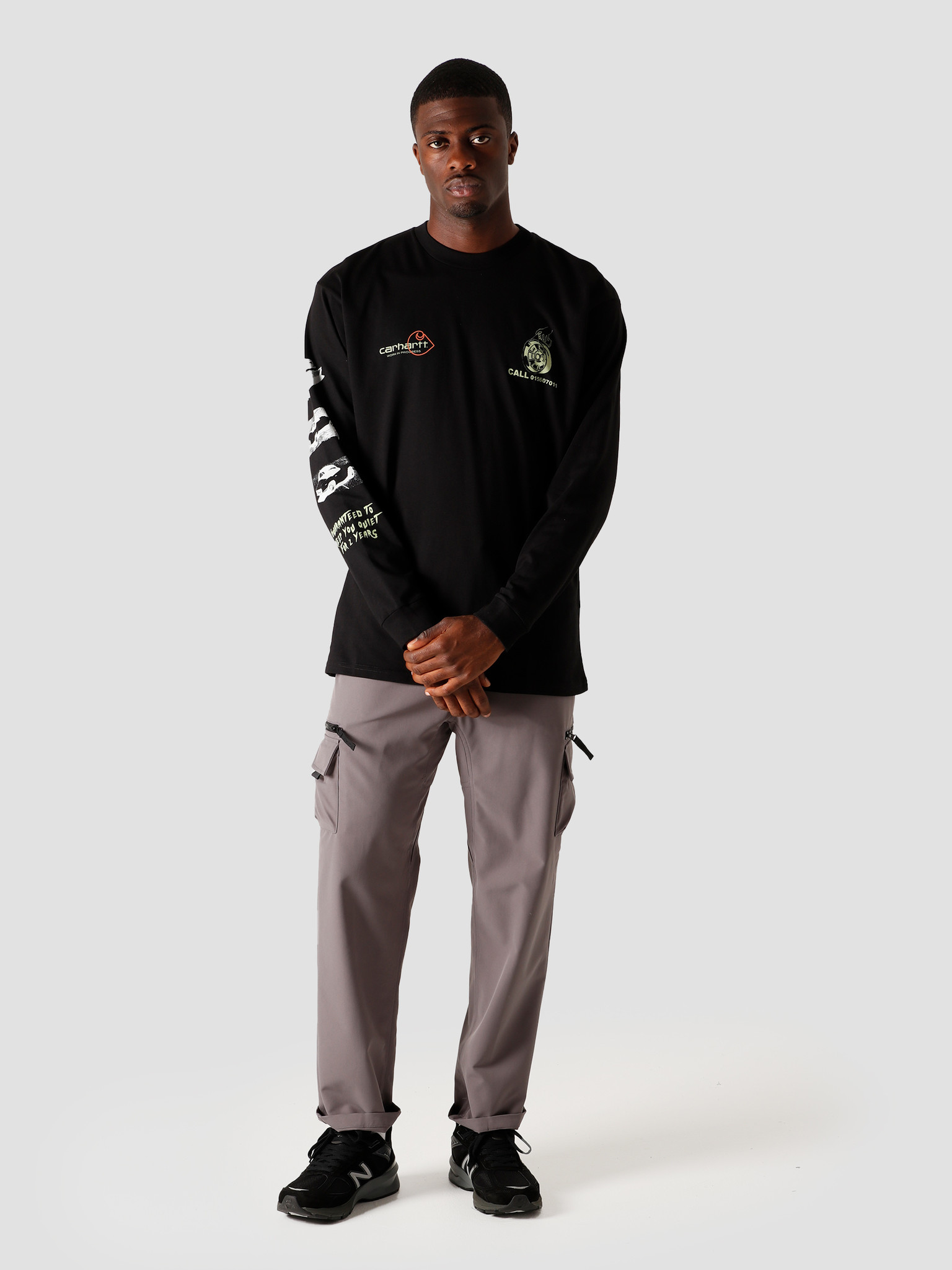 Carhartt WIP Carhartt WIP Longsleeve Carhartt Race Play T-Shirt Black I028499-8900