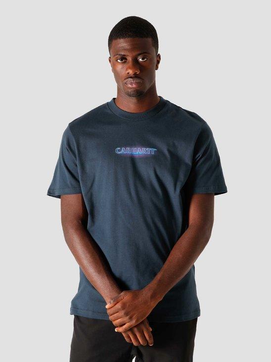 Carhartt WIP Neon Script T-Shirt Admiral I028477-0
