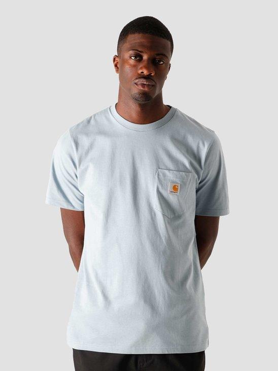 Carhartt WIP U Pocket T-Shirt Frosted Blue I022091-0F400