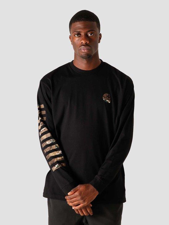 Carhartt WIP Longsleeve Camo Mil T-Shirt Black I028464-8900