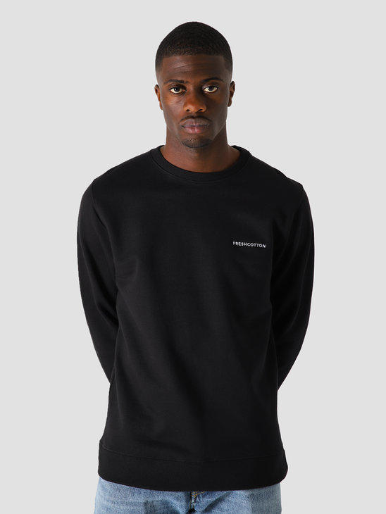 FreshCotton Chest Logo Sweater Black