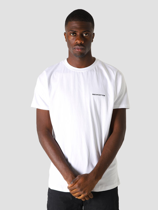 FreshCotton Chest Logo T-Shirt White