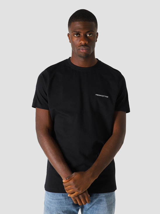 FreshCotton Chest Logo T-Shirt Black