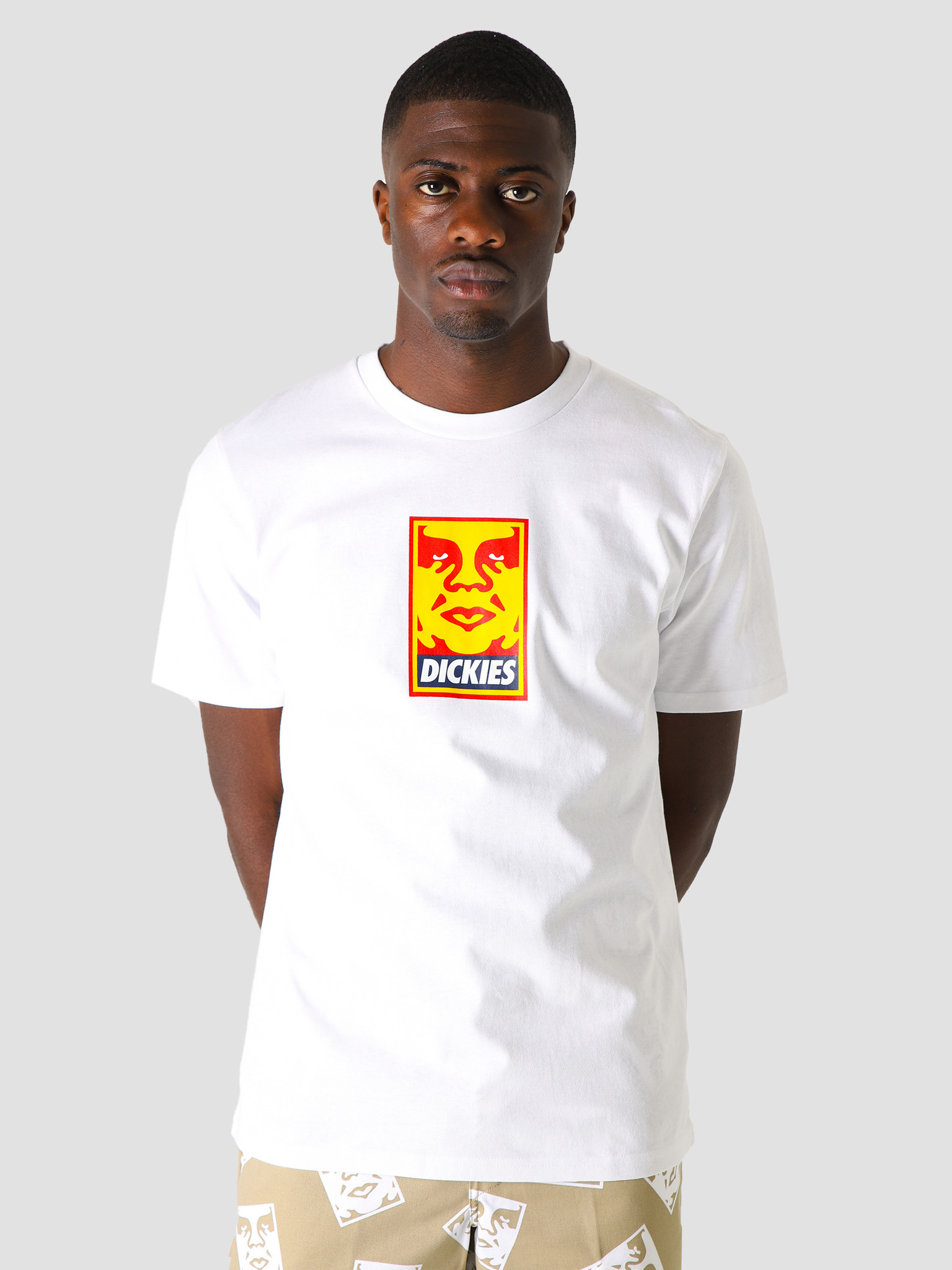 Obey Obey x Dickies Heavyweight T-Shirt White 163082155WHT