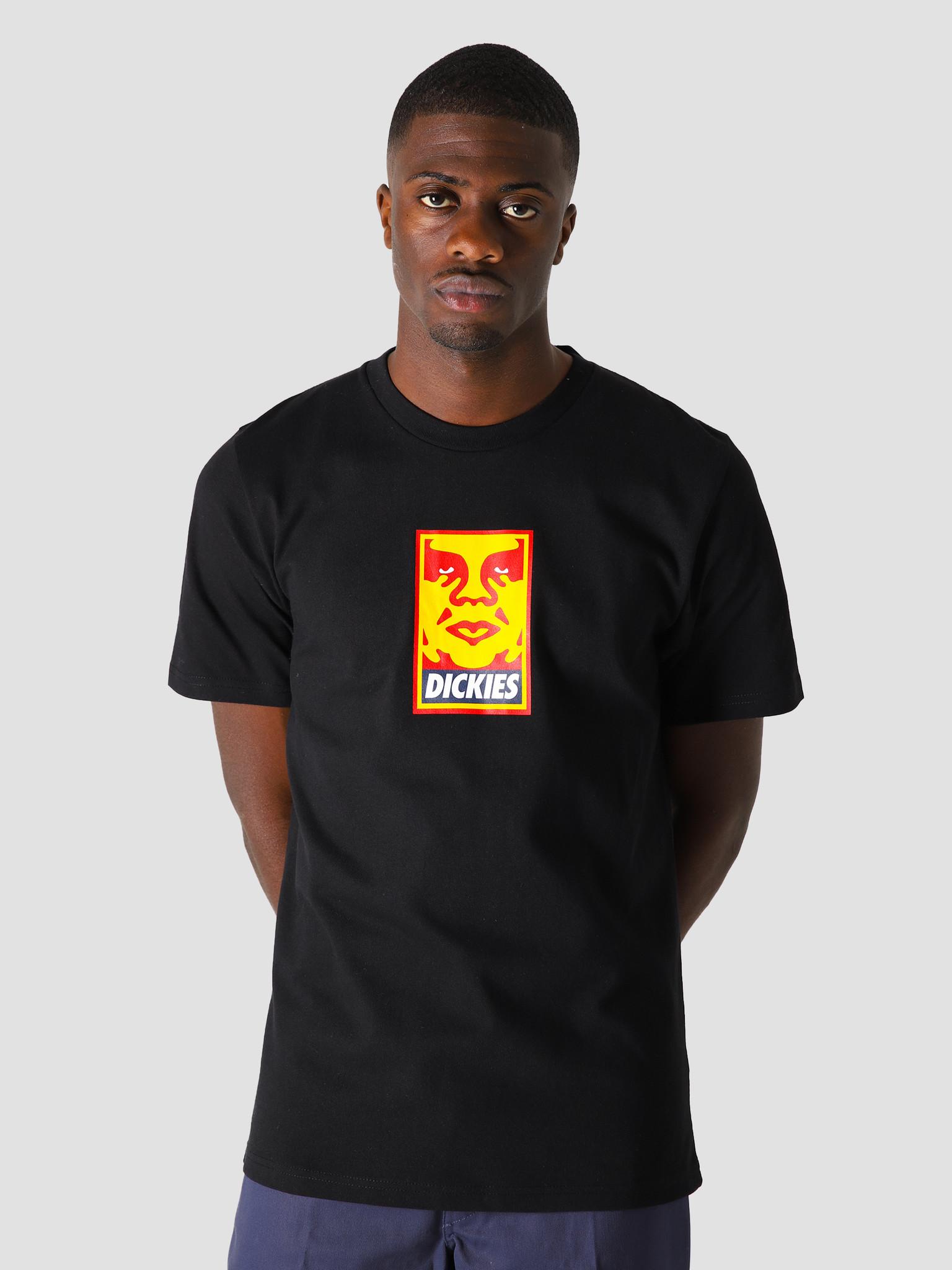 Obey Obey x Dickies Heavyweight T-Shirt Black 163082155BLK